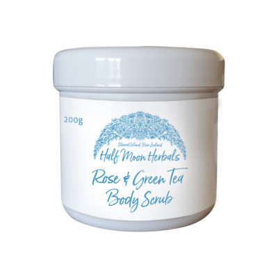 Half Moon Herbals Rose & Green Tea Body Scrub